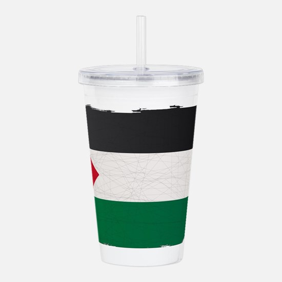 Flag of Palestine Grun Acrylic Double-wall Tumbler
