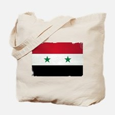 Flag of Syria Grunge Tote Bag