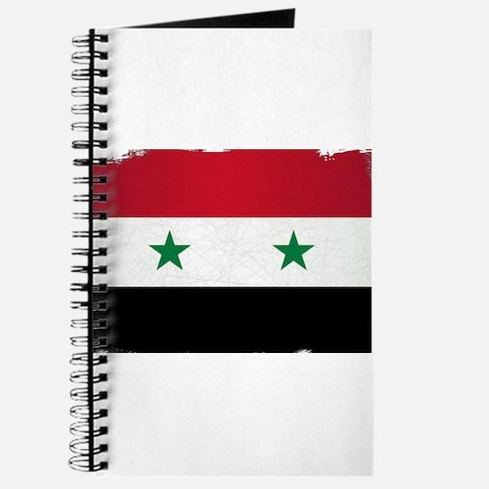 Flag of Syria Grunge Journal