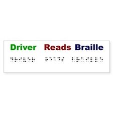 Driver Reads Braille