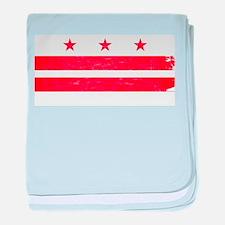 Washington DC State Flag baby blanket