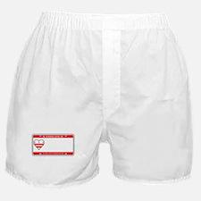 Washington DC License Plate Boxer Shorts