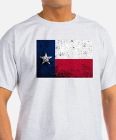 Texas State Flag Grunge T-Shirt