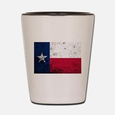 Texas State Flag Grunge Shot Glass