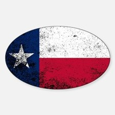 Texas State Flag Grunge Decal