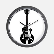 Country Guitar Wall Clock