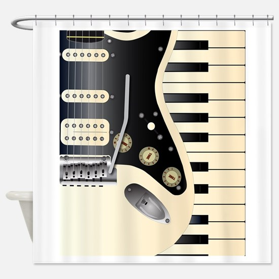 Music Duo Shower Curtain