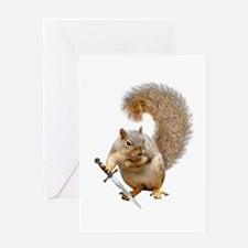 Fighting Squirrel Greeting Cards
