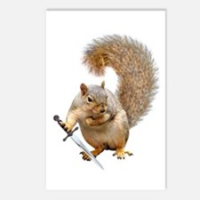 Fighting Squirrel Postcards (Package of 8)