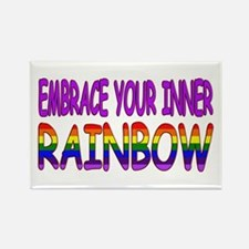 Embrace Your Inner Rainbow (Style Rectangle Magnet