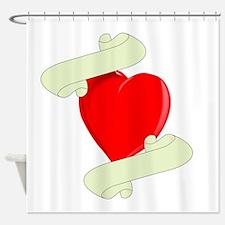 Blank Heart Logo Shower Curtain