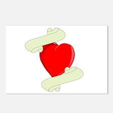 Blank Heart Logo Postcards (Package of 8)