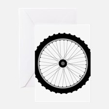 Bicycle Wheel Greeting Cards