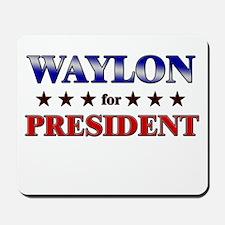 WAYLON for president Mousepad