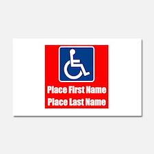 Handicapped Disabled Car Magnet 20 x 12