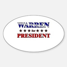 WARREN for president Oval Decal