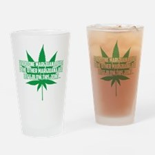 Cute Weed joint Drinking Glass