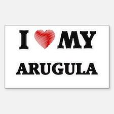 I Love My Arugula food design Decal
