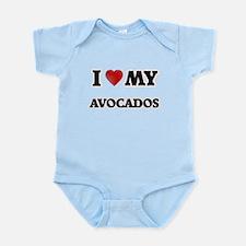I Love My Avocados food design Body Suit