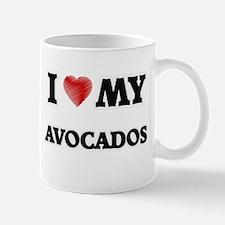 I Love My Avocados food design Mugs