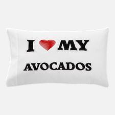 I Love My Avocados food design Pillow Case