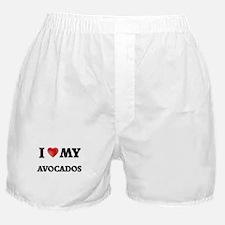 I Love My Avocados food design Boxer Shorts