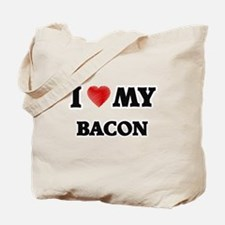 I Love My Bacon food design Tote Bag