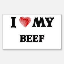 I Love My Beef food design Decal