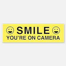 Smile You're On Camera Bumper Bumper Bumper Sticker