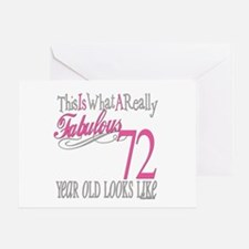 72nd Birthday Gifts Greeting Card
