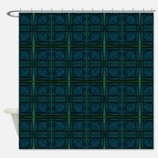 Dark Teal Shower Curtains