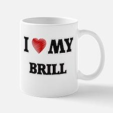 I Love My Brill food design Mugs