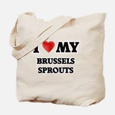I Love My Brussels Sprouts food design Tote Bag