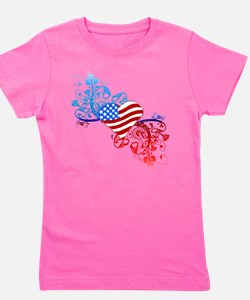Cute 4th of july and kids Girl's Tee