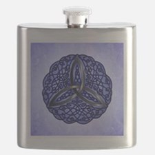 Dark Blue Celtic Trinity Knot Flask