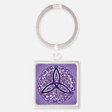 Lavender Celtic Trinity Knot Keychains