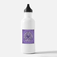 Lavender Celtic Trinity Knot Water Bottle