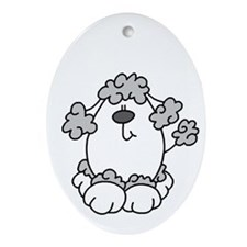 Poodle Pup Oval Ornament