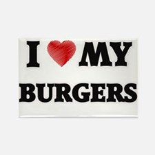 I Love My Burgers food design Magnets