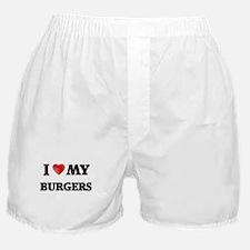 I Love My Burgers food design Boxer Shorts