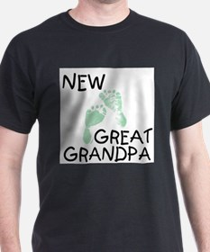 New Great Grandpa (green) Ash Grey T-Shirt