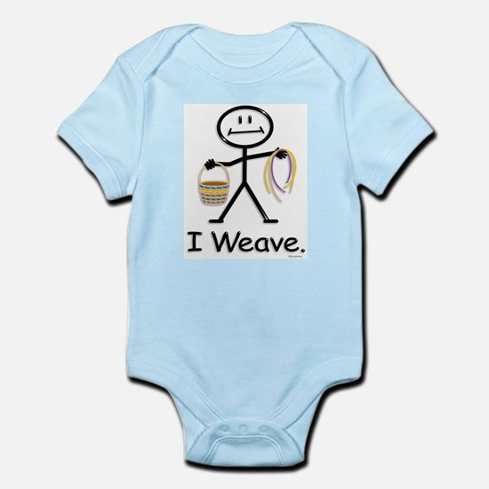 Basket Weaving Stick Figure Infant Bodysuit