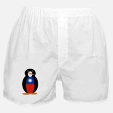 Penguin Flag Taiwan or Republic of Ch Boxer Shorts