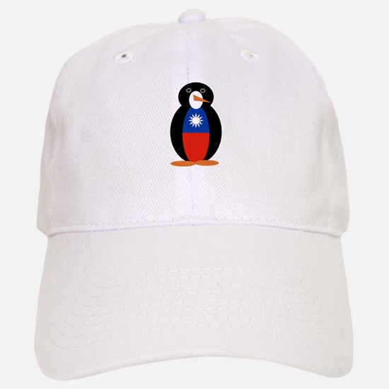 Penguin Flag Taiwan or Republic of China Baseball Baseball Cap