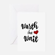 Worth the Wait baby design Greeting Cards
