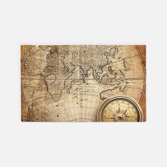Vintage Map Area Rug