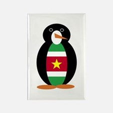 Penguin Flag Surinam Rectangle Magnet