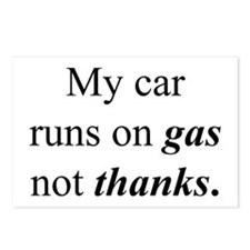 """Gas Not Thanks"" Postcards (Package of 8)"