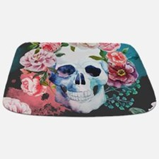 Flowers And Skull Bathmat
