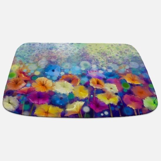 Floral Painting Bathmat